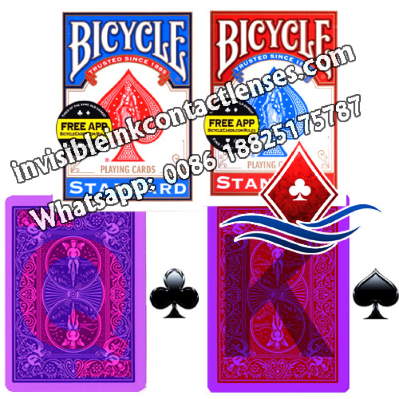 marked playing cards for contact lenses